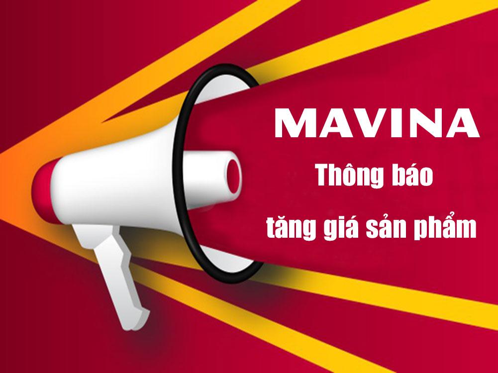 Mavina thông báo tăng giá bán sản phẩm sàn gỗ