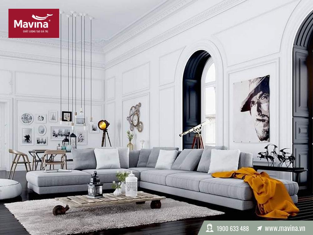Sofa màu xám