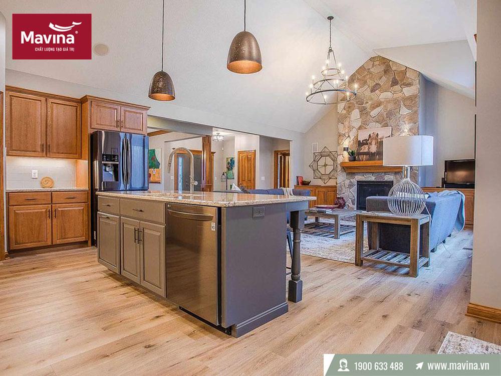 Màu sàn gỗ phù hợp với đồ nội thất
