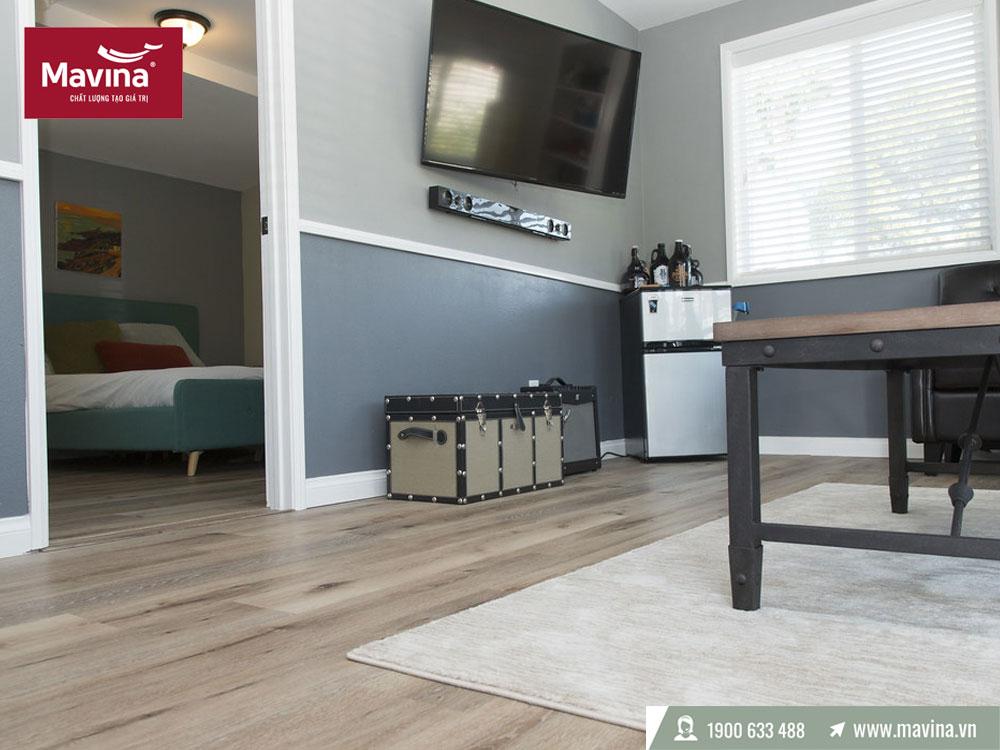 Màu sàn gỗ theo diện tích phòng