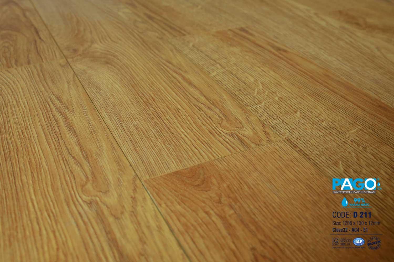 Sàn gỗ Pago 12mm cốt xanh