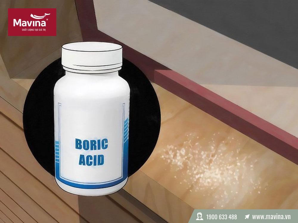 Sử dụng axit boric gỗ công nghiệp chống mối mọt