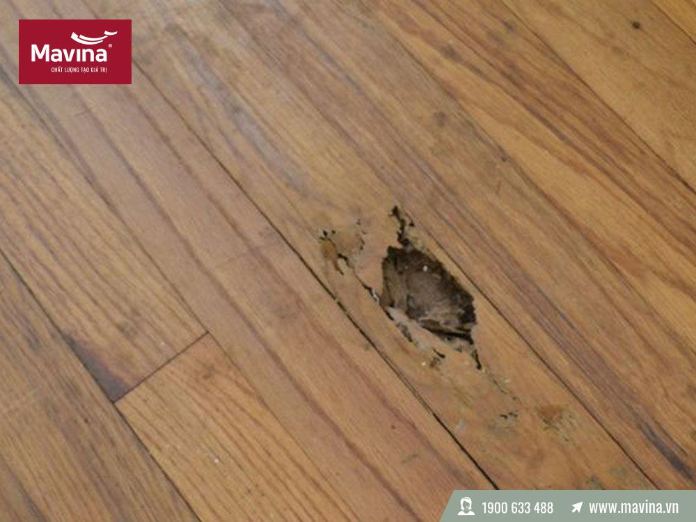 Tránh để vật nặng lên sàn gỗ công nghiệp